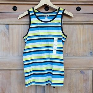BOYS striped summer tank top M 8/10